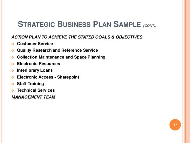 Customer service for business plan
