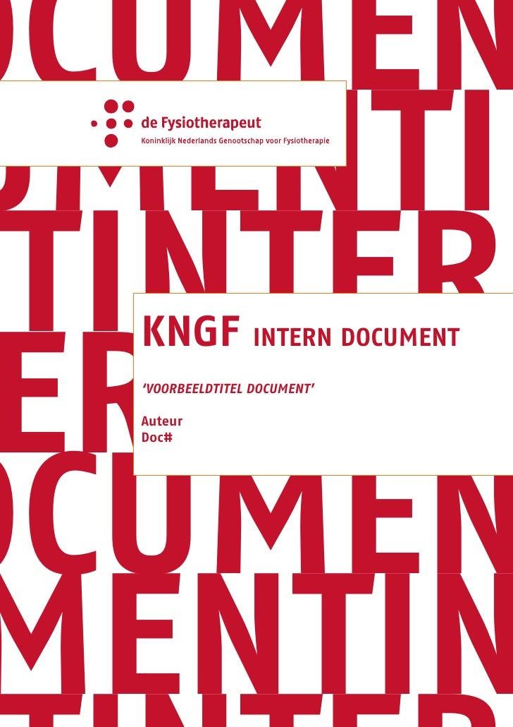 ocumen umentin ntintern  erndoc   KnGF intern document   'voorbeeldtitel document'     ocumen   Auteur   doc#      mentin