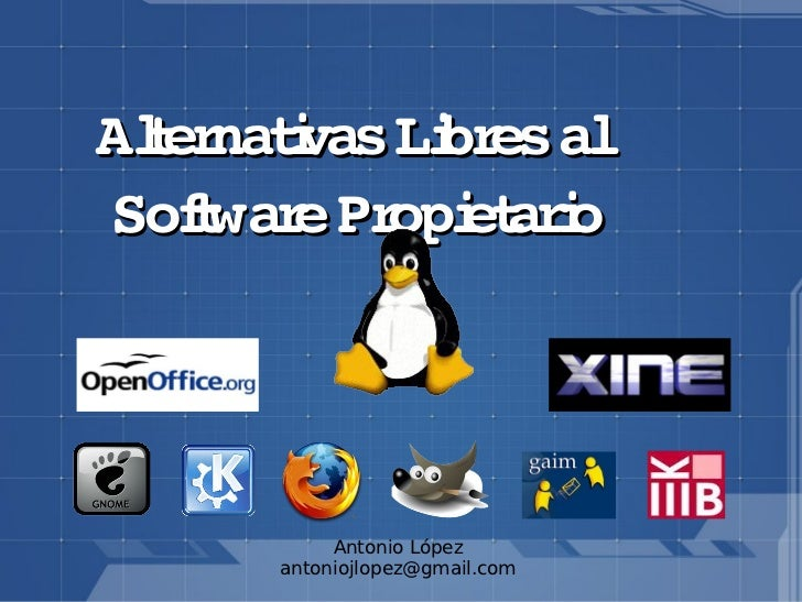Alternativas software-libre vs Privado