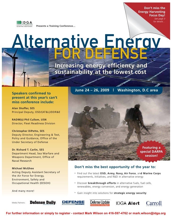 Alternative Energy For Defense Prog Reg V2 Slideshare