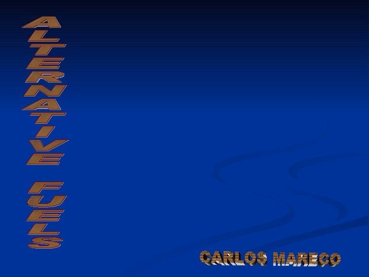 ALTERNATIVE FUELS CARLOS MARECO