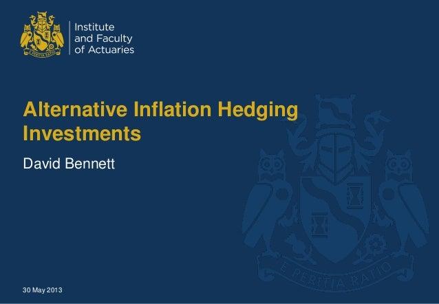 Alternative Inflation Hedging Investments