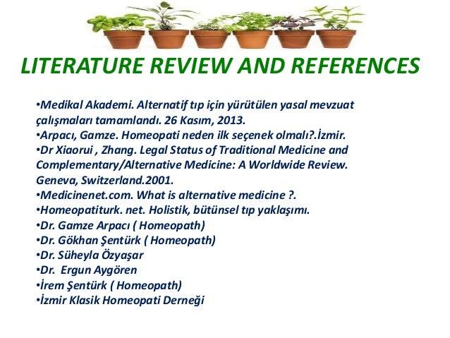 Alternative medicine review articles