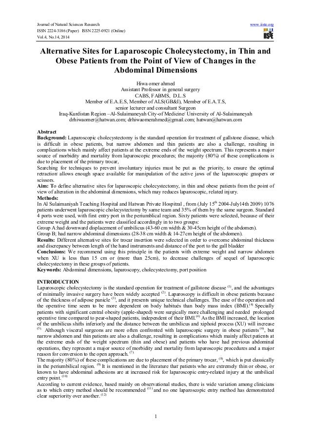 Journal of Natural Sciences Research www.iiste.org ISSN 2224-3186 (Paper) ISSN 2225-0921 (Online) Vol.4, No.14, 2014 1 Alt...