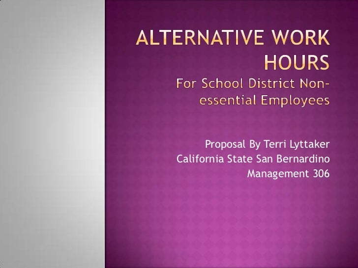 Alternative work hours power point