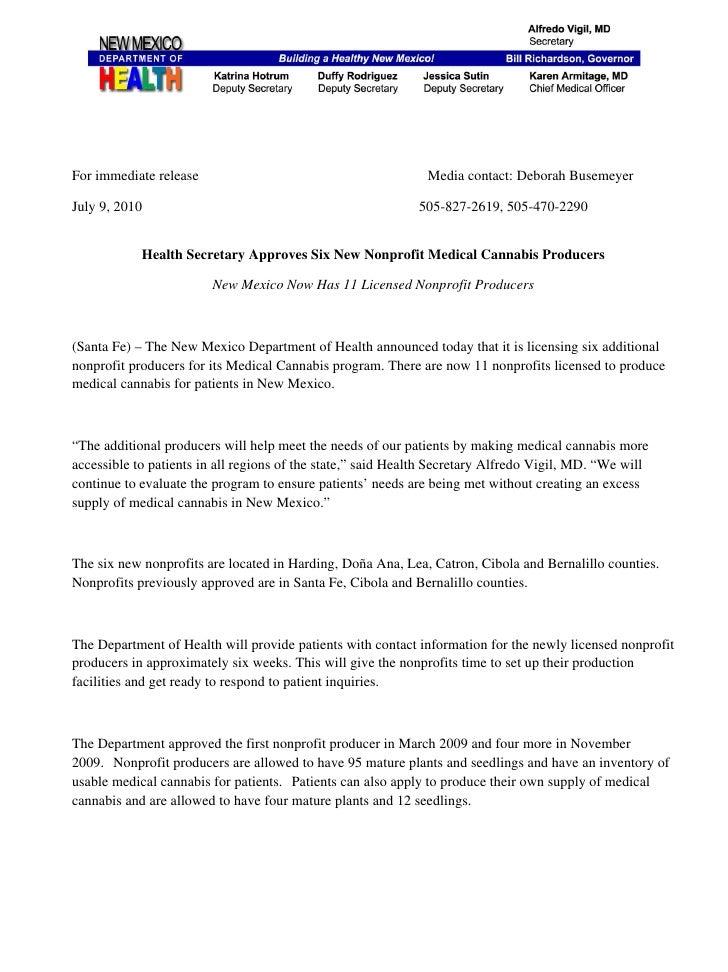 Alth secretary approves six new nonprofit medical cannabis producers