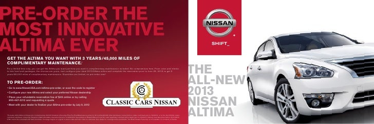 2012 Nissan Altima Brochure