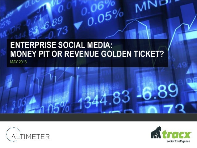 ENTERPRISE SOCIAL MEDIA:MONEY PIT OR REVENUE GOLDEN TICKET?MAY 2013
