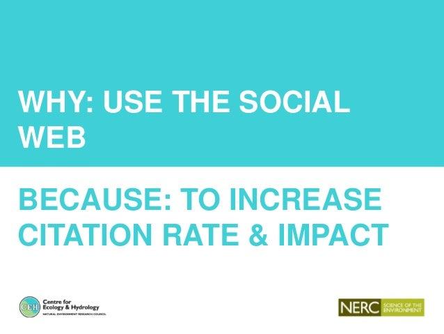 Using the social web (altmetrics) to improve science citation rate