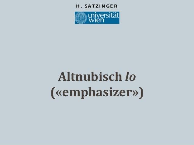 Altnubisch lo