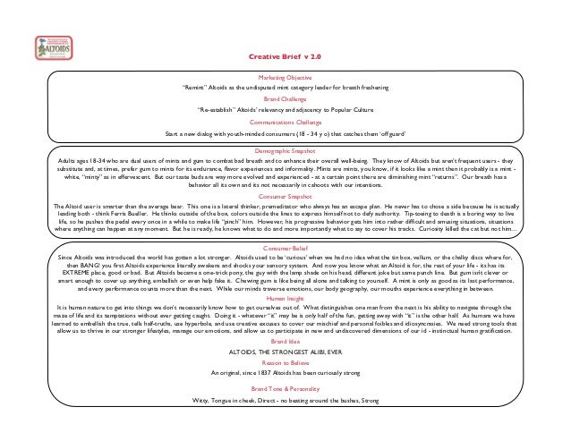 Creative Brief v 2.0                                                                              Marketing Objective     ...