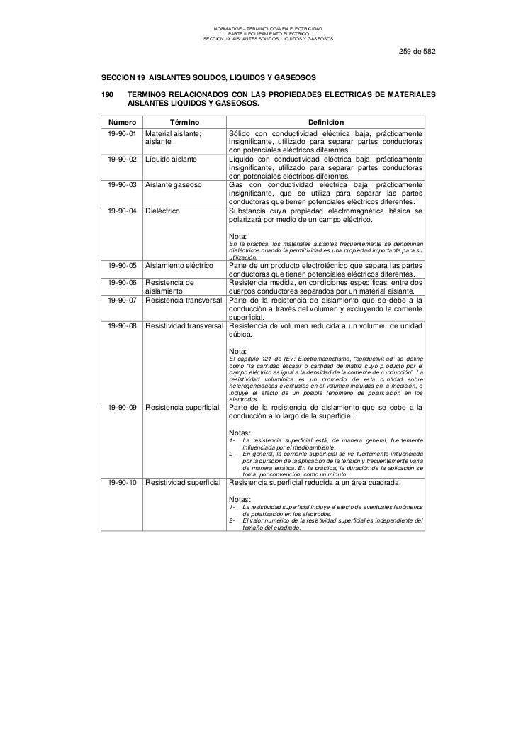 NORMA DGE – TERMINOLOGIA EN ELECTRICIDAD                                          PARTE II EQUIPAMIENTO ELECTRICO         ...