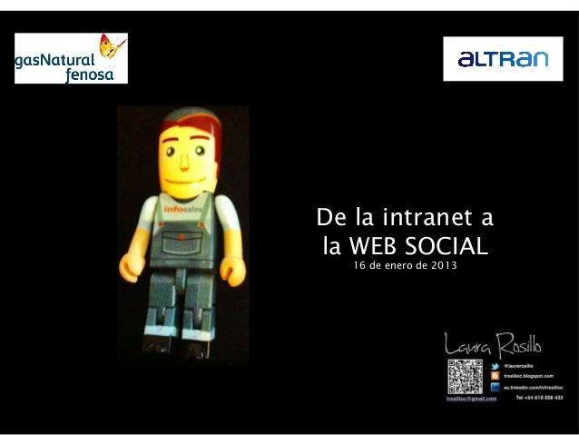 De la intranet ala WEB SOCIAL   16 de enero de 2013