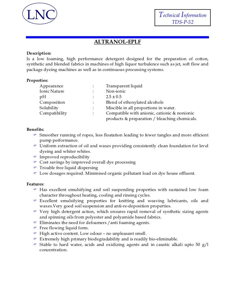 LNC                                                                 Technical Information                                 ...