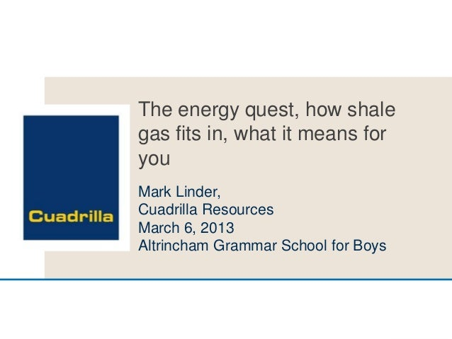 Overview shale gas in UK