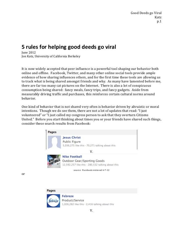 Good Deeds go Viral                                                                                               ...