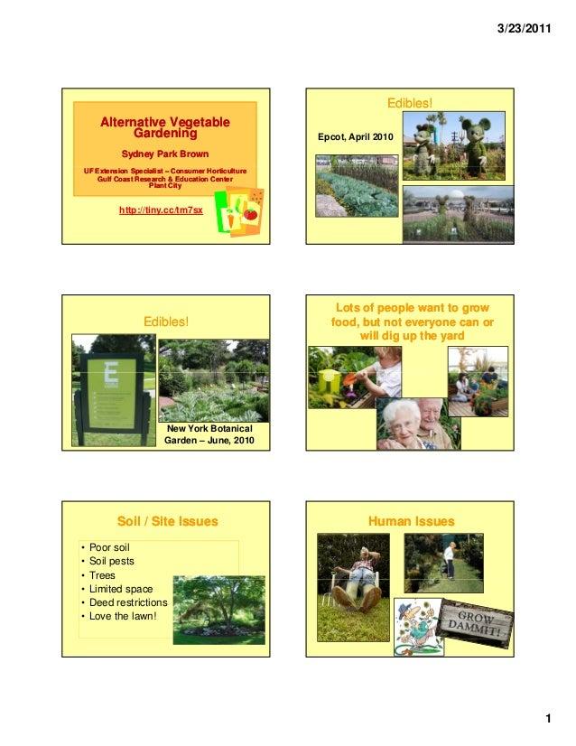 Alternative Vegetable Gardening - University of Florida