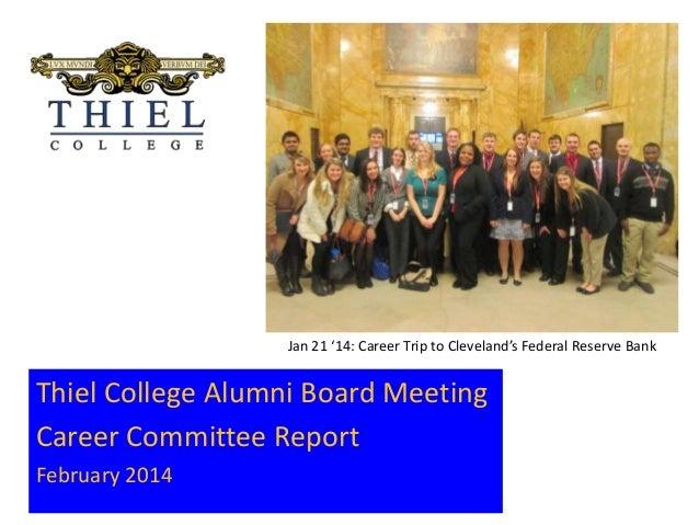 IMG_0048[4].JPG  Jan 21 '14: Career Trip to Cleveland's Federal Reserve Bank  Thiel College Alumni Board Meeting Career Co...