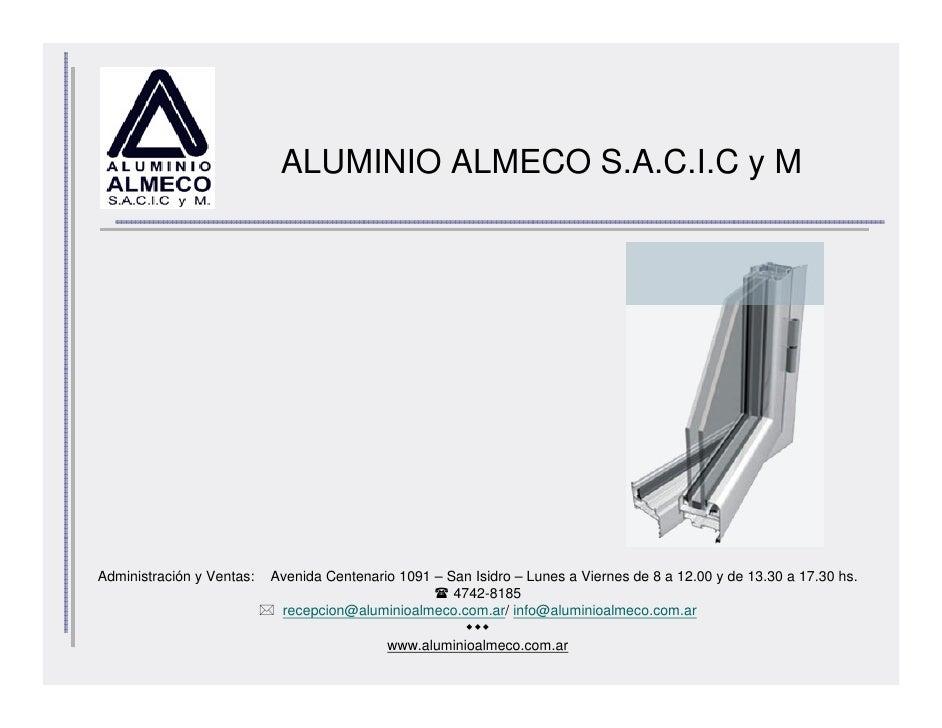 Aluminio Almeco Presentación