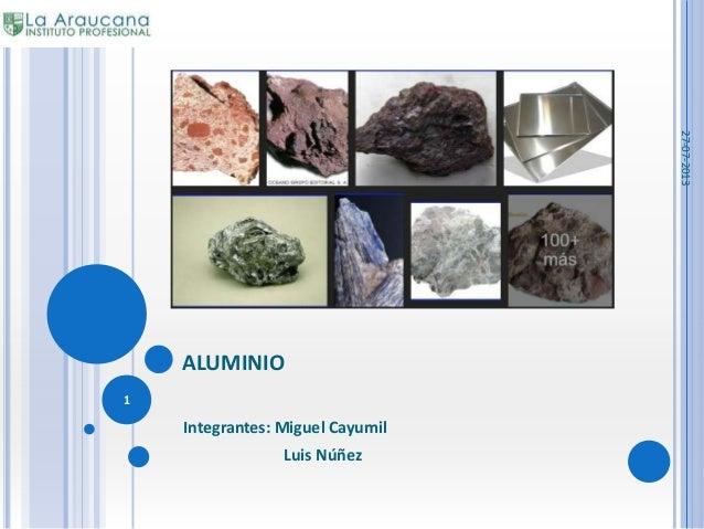ALUMINIO Integrantes: Miguel Cayumil Luis Núñez 27-07-2013 1