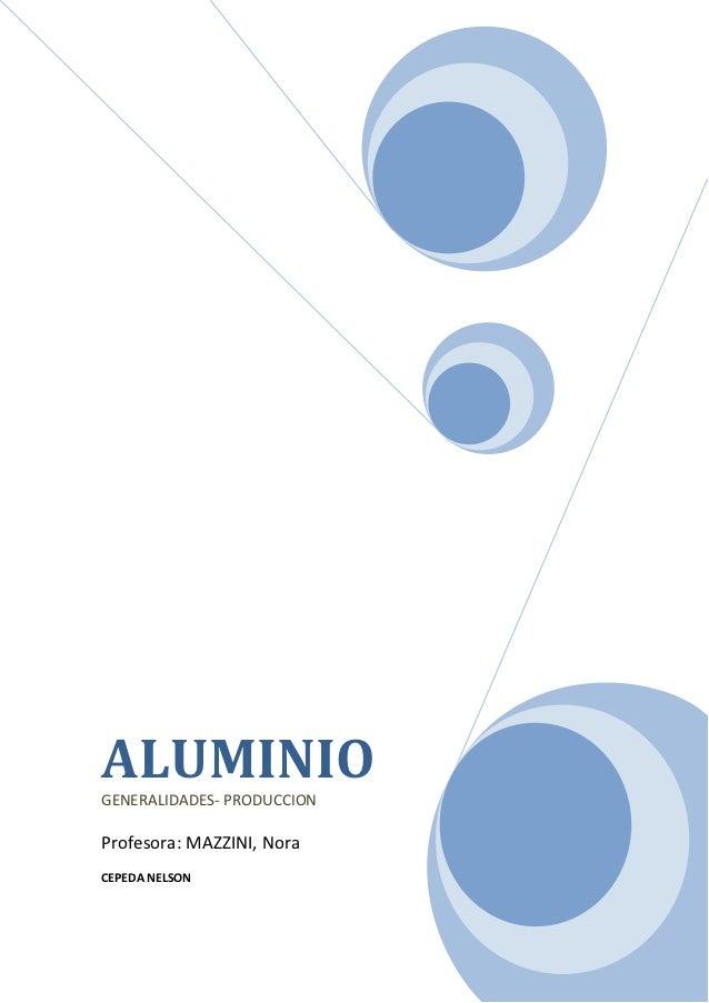 Proceso de producción de aluminio