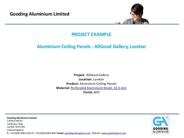 Aluminium Ceiling Panels - AllGood Gallery, London