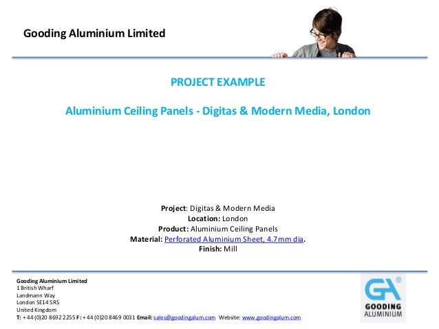 Gooding Aluminium Limited  PROJECT EXAMPLE Aluminium Ceiling Panels - Digitas & Modern Media, London  Project: Digitas & M...