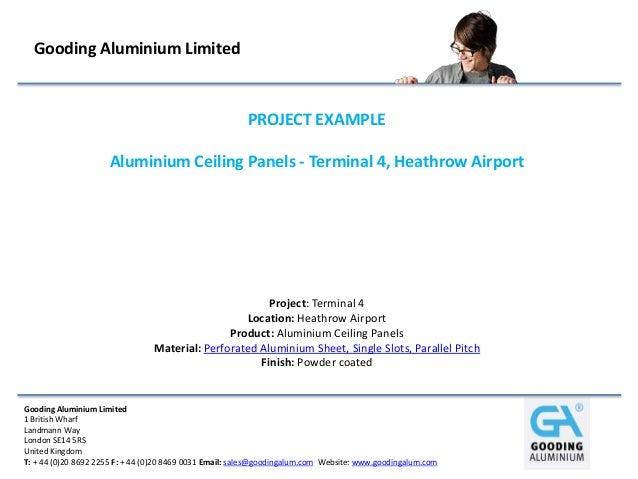 Gooding Aluminium Limited                                                        PROJECT EXAMPLE                     Alumi...