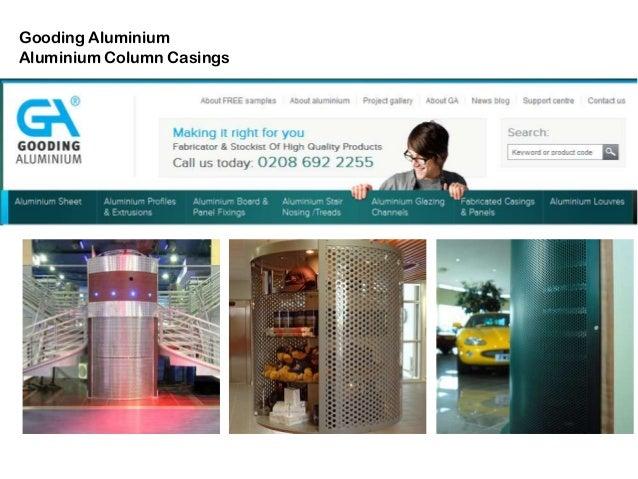 Aluminium column casings - product examples