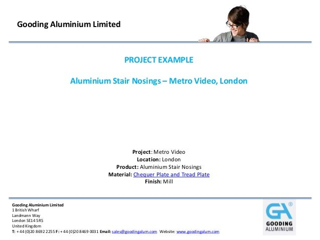 Aluminium Stair Nosings – Metro Video, London