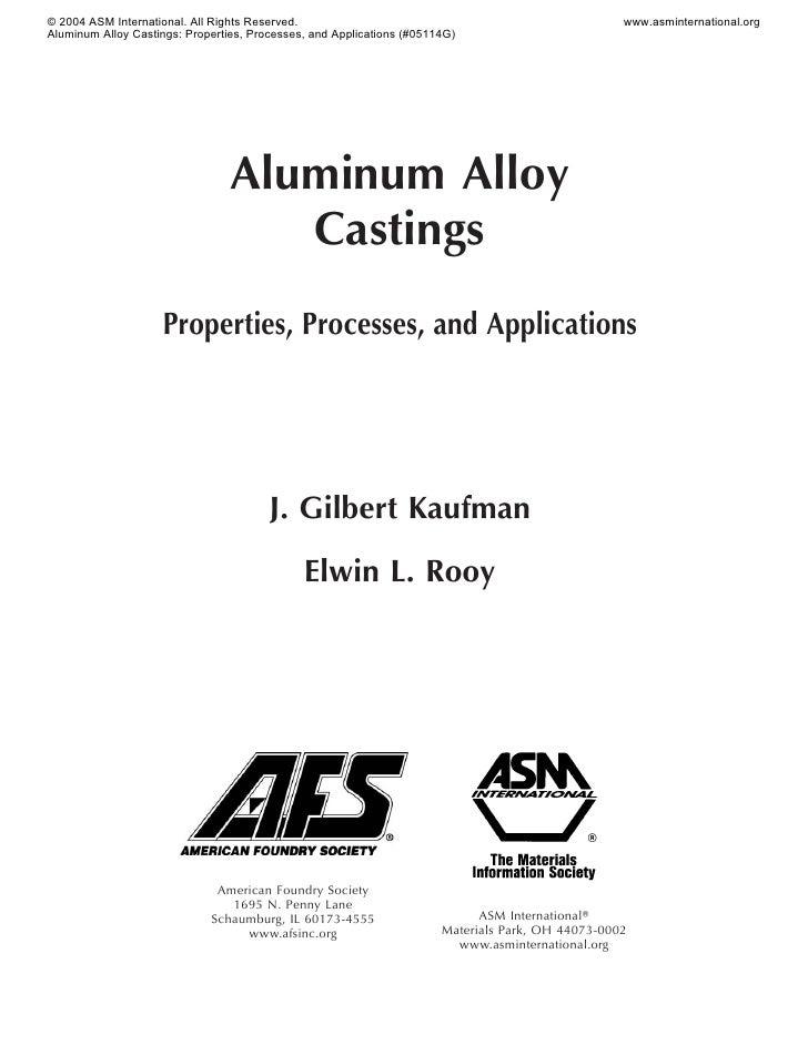 Aluminum alloy castings