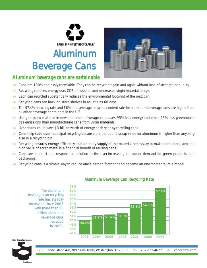 Aluminum            Bev            Beverage Cans                       areAluminum beverage cans are sustainable. Cans ar...