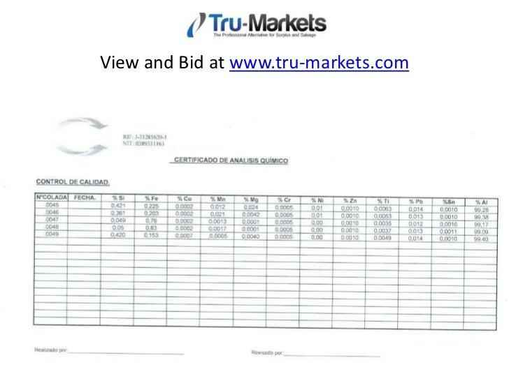 Tru-Markets MTRs Aluminum Auction