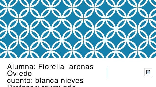 Alumna: Fiorella arenas Oviedo cuento: blanca nieves
