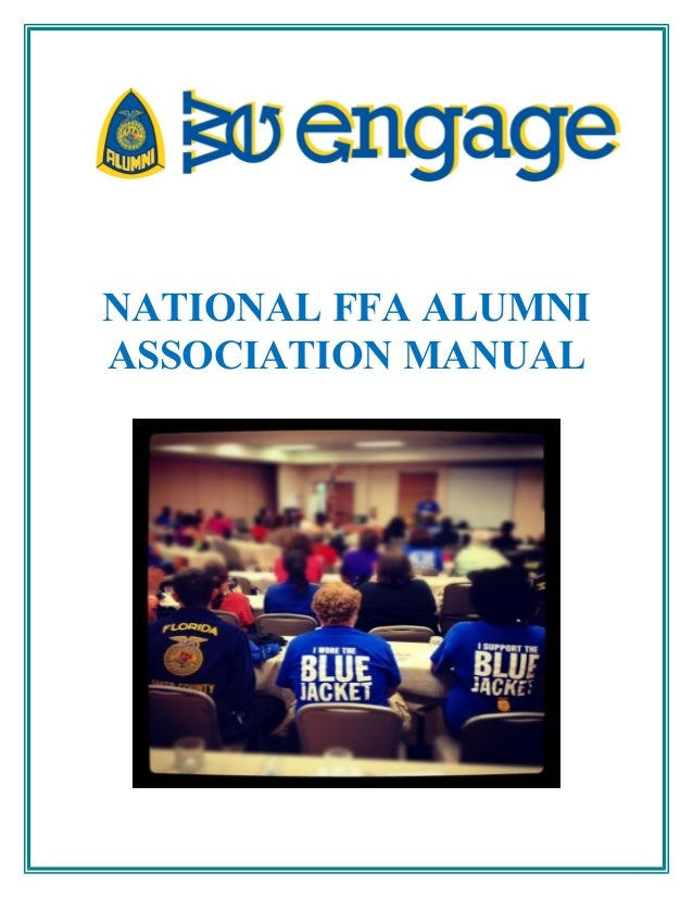 NATIONAL FFA ALUMNI ASSOCIATION MANUAL