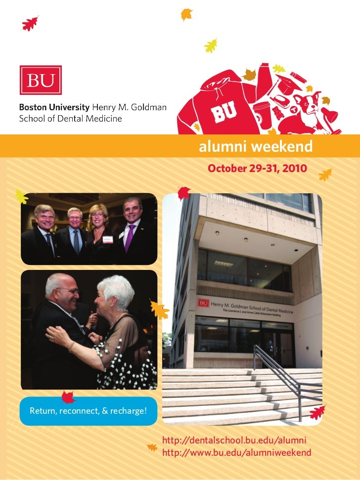 alumni weekend                                           October 29-31, 2010Return, reconnect, & recharge!                ...