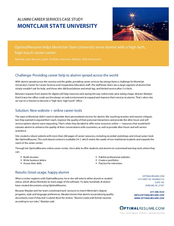 Alumni Career Services case study