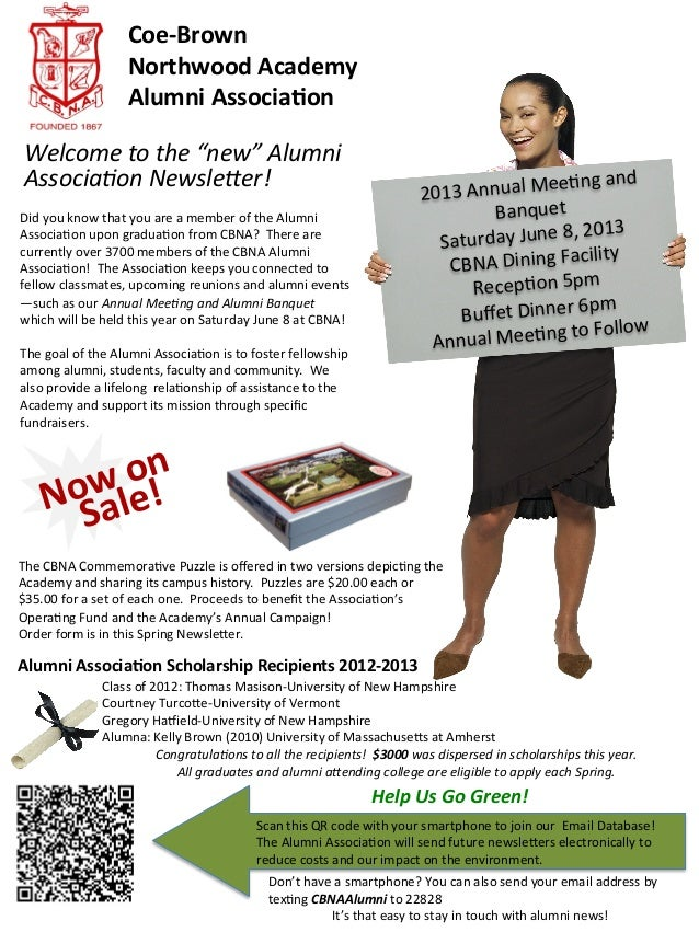 CBNA Alumni Association Newsletter Spring 2013