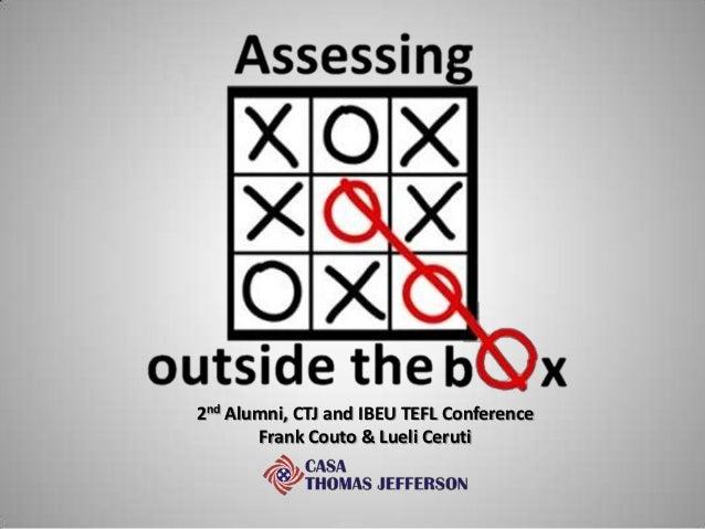 2nd Alumni, CTJ and IBEU TEFL Conference Frank Couto & Lueli Ceruti