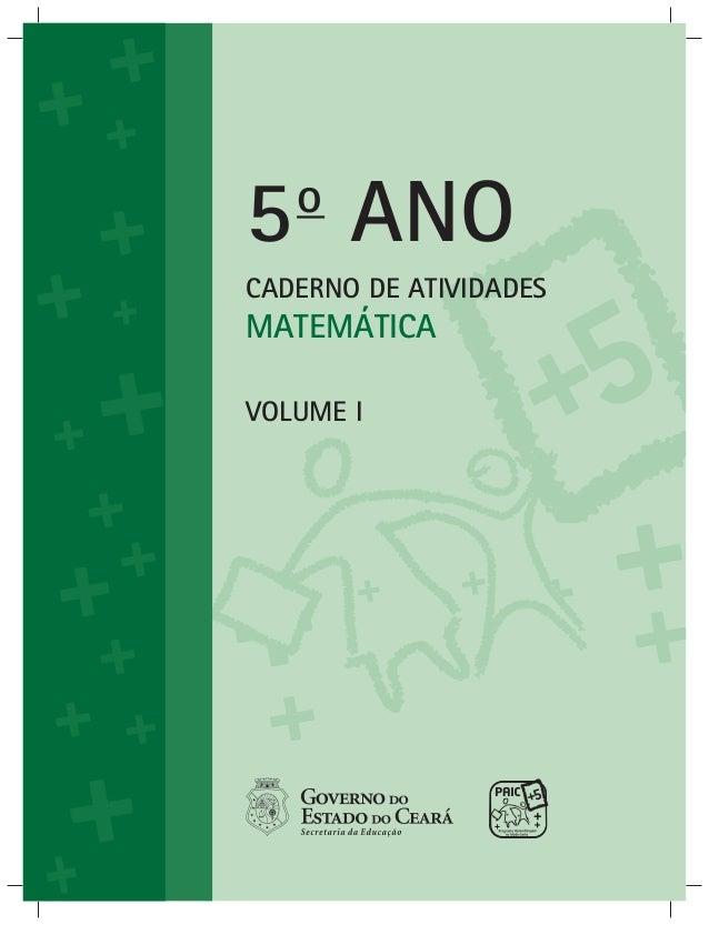 PAIC + LIVRO DO ALUNO MATEMÁTICA 5º ANO_1º_e_2º_BIMESTRE