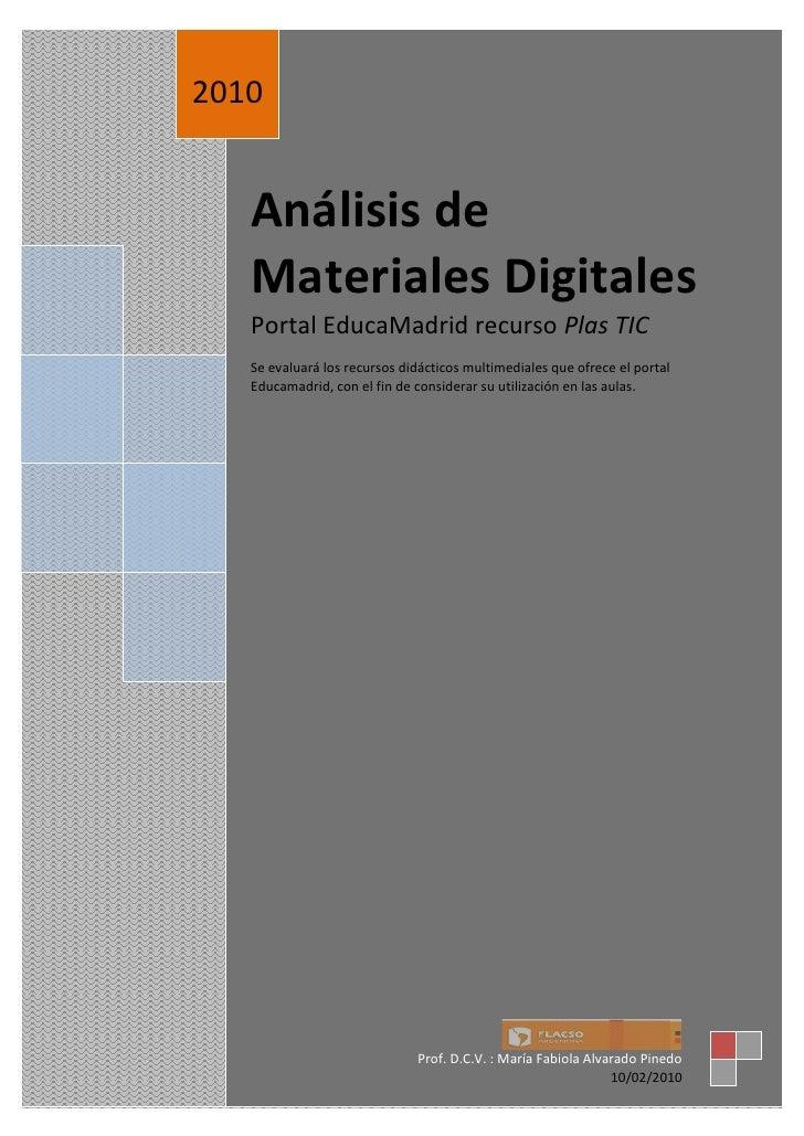 Análisis de Materiales Digitales