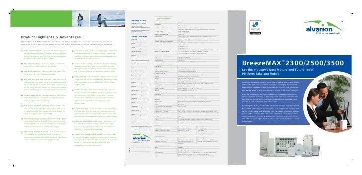Alvarion Breeze Max 2300 2500 3500 - Product Brochure