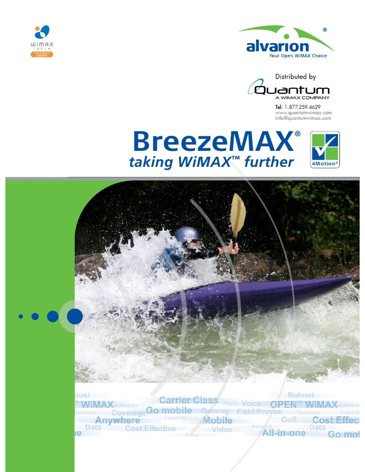 BreezeMAX                         ®   taking WiMAX™ further       4Motion®