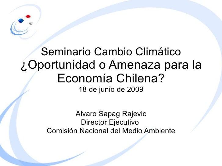 Seminario Cambio Climático ¿Oportunidad o Amenaza para la Economía Chilena?