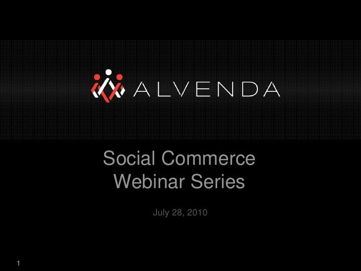 Social Commerce Webinar