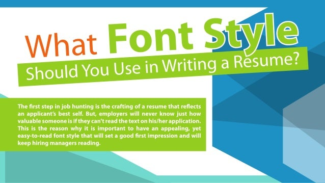 what font style should you use in writing a resume