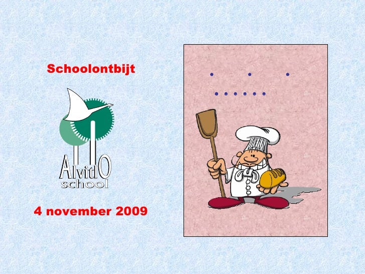 Het boek van de bakker Schoolontbijt 4 november 2009