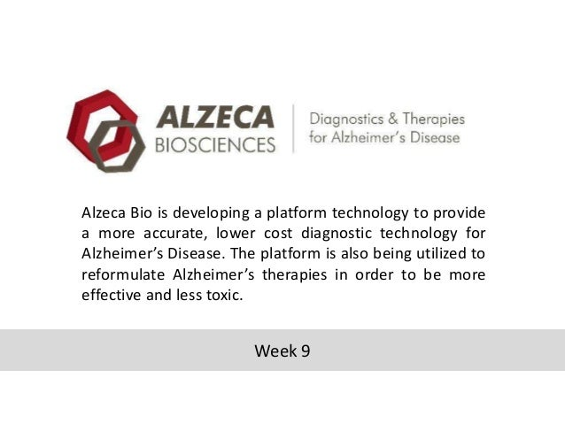 Alzeca Bio is developing a platform technology to provide a more accurate, lower cost diagnostic technology for Alzheimer'...