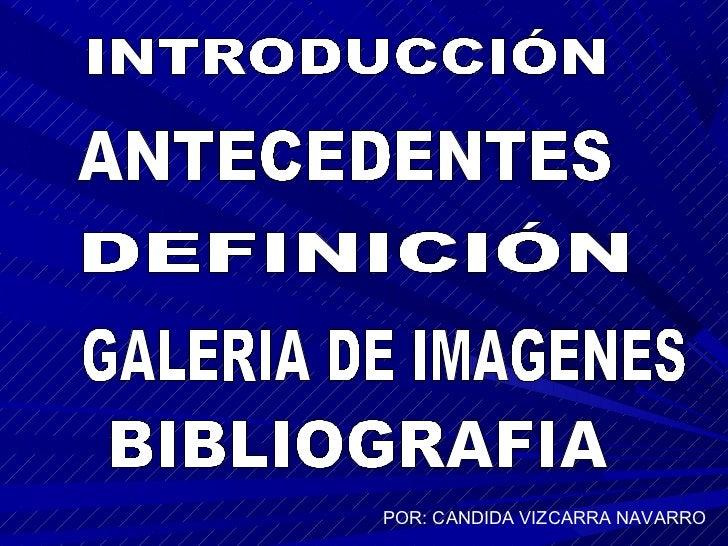 POR: CANDIDA VIZCARRA NAVARRO