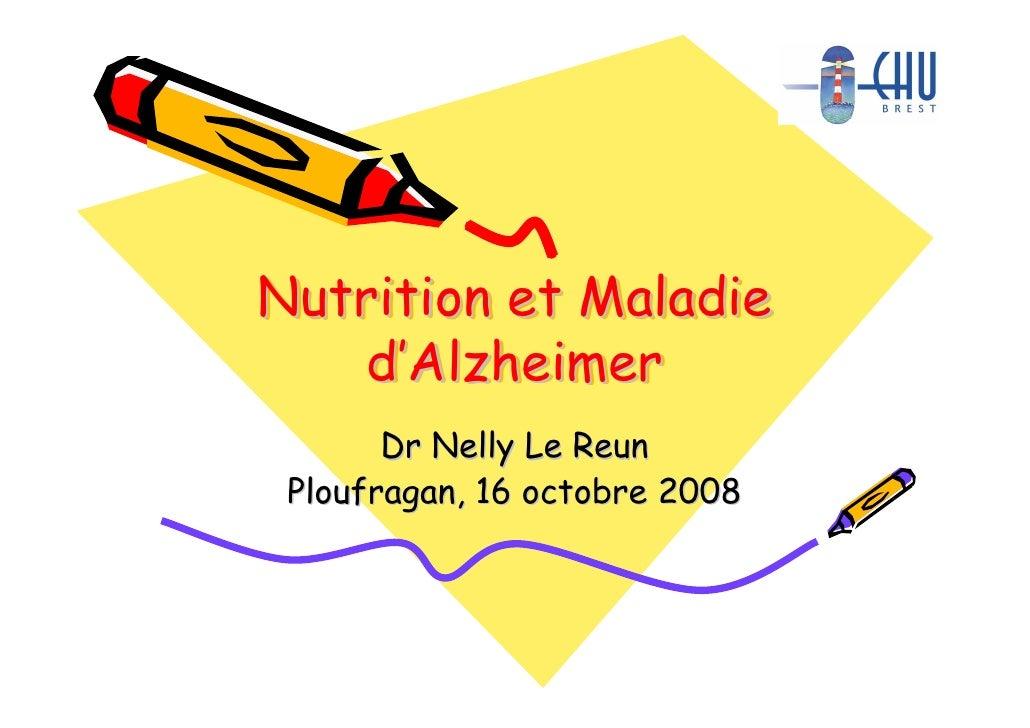 nutrition et maladie d'alzheimer